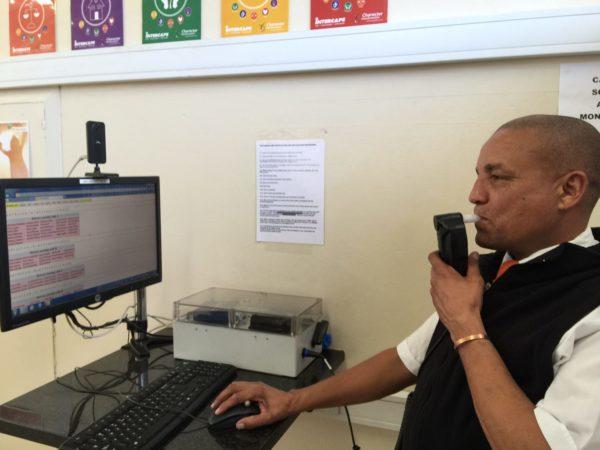 Bus Drivers at Intercape undergoing mandatory Breath Testting