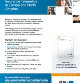 New Report published on Insurance Telematics in Europe and North America [2nd Edition]