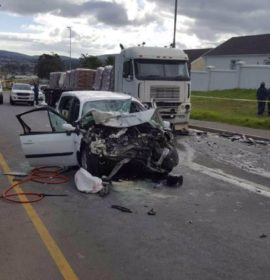 Mother and son killed in head-on collision with a truck in Durbanville