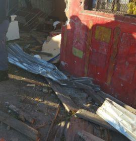 Truck crashes into home, Phillippi.