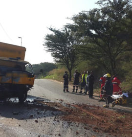 Three injured in KwaMashu truck collision