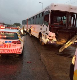 Crash into refuse truck leaves 9 bus passengers injured in Pretoria