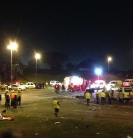 Crash scene after horror truck crash at Fields Hill in Pinetown