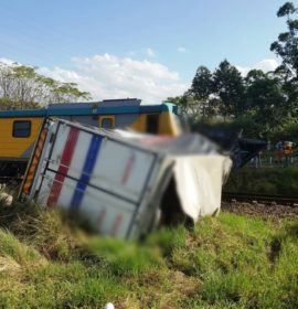Train collides with a truck trailer in Northdene near Pinetown