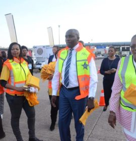 Transport Minister and KZN Transport MEC leads  roadblock at Marianhill Toll Plaza
