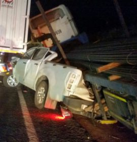 Five trucks, three collisions, two killed on the N1 near Worcester