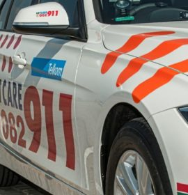13 Injured as truck and taxi collide on the R554 in Roodekop, Germiston
