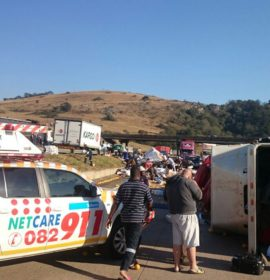 Truck rollover causes road closure on N3 at Hammersdale
