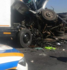 Serious collision on corner of Main Road and Jet Park Road in Boksburg