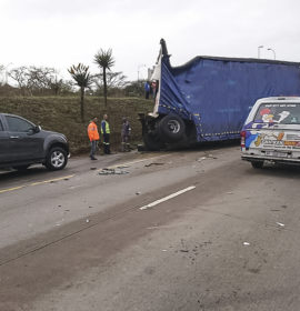 Two trucks and car collide on N3 in Pietermaritzburg