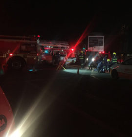 Taxi t-bones fire truck, at least 14 injured