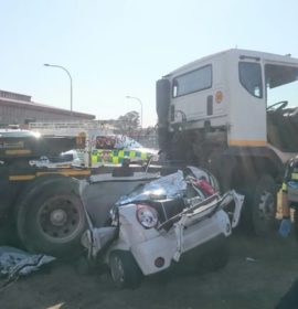 Truck drives over car killing two in Atlantis