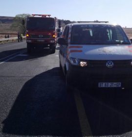 One injured in collision with truck on N5 direction Kestell about 15 km outside Bethlehem