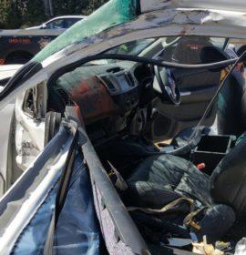 Truck T-Bones bakkie after alleged brake failure in Northriding.