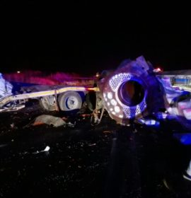 Two killed in truck collision on the R549 near Deneysville.