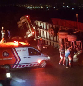 Five injured in truck rollover on the N3 at Key Ridge last night.
