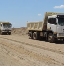 Rough and tough operation, FAW tippers are up to the task