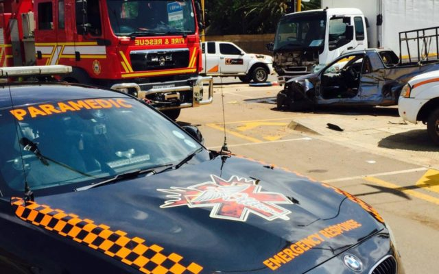 Truck crash on corner of Simon Vermooten and Furrow, Die Wilgers in Pretoria.