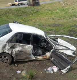 Car crashes into truck injuring four near Secunda, Mpumalanga.