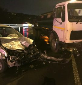 Truck collision on the N3 South after Buccleuch Interchange, Johannesburg.