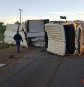 Fochville truck and bakkie collide injuring two