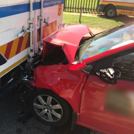 Truck accident on the corner of Medical and 16th, Midrand.