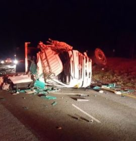 One injured in  two truck collision on the N12, Fochville