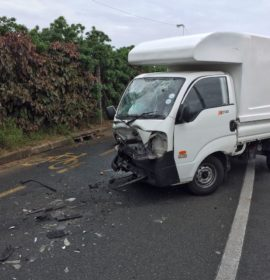 Five injured in collision between motor vehicle and truck in Durban