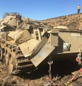 One person died and two others were injured in a military vehicle rollover, Oliviershoek Pass