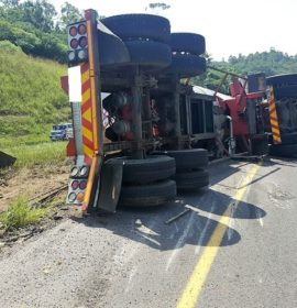 Truck driver seriously injured in crash on the N3 West Bound onramp