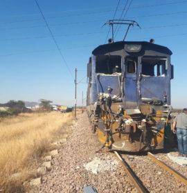 Train crashes into truck leaving three injured, Rustenburg