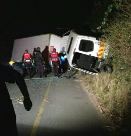 Three Trapped In Overturned Truck, Tongaat