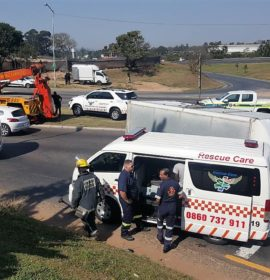 5 Injured in Truck crash on the M13 Richmond Road offramp