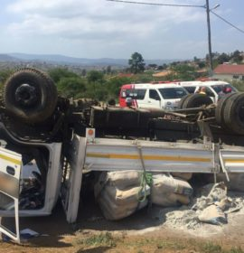 Three men injured as truck overturned in Imbali, KwaZulu Natal