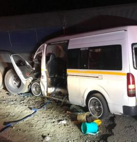 A taxi crashed into a truck outside of Potchefstroom killing 2 people and injuring 14 more