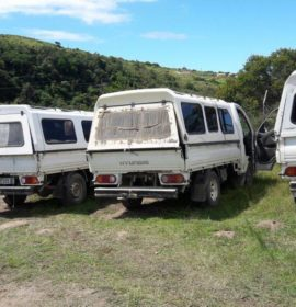 Police recovers ten suspected stolen trucks in Ngqeleni