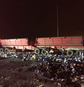 Two trucks collided on the N12 Zuurbekom in Westonaria