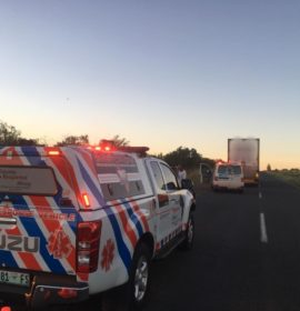Cyclist injured in collision with truck on Raymond Mhlaba Street, Bloemfontein