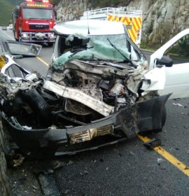 Man seriously injured after colliding head-on with truck in the Outeniqua Pass in George