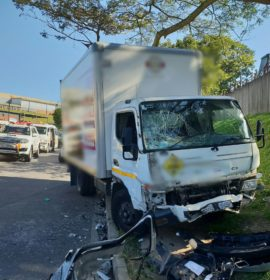 Three injured as truck and car collide on Alexander Road in Westmead