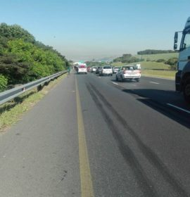 Pedestrian run-over by truck on the N2 before the Avoca off-ramp