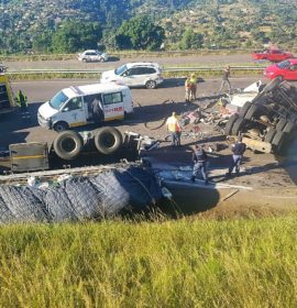 Two trucks collide on the N3 Durban Bound before Marianhill Toll Plaza in Pinetown
