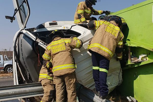 One killed, two injured after truck overturns in Alberton