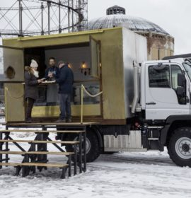 Mercedes-Benz Unimog U 318: Unimog as a food truck in and around Finland