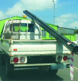 What are the Rules of the Road on Warning about Overhang from a Vehicle!
