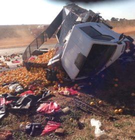 Motorist killed and child critical in collision with truck on the R25, JHB