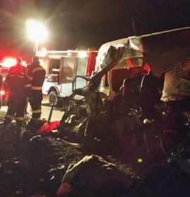 Taxi and truck collide injuring 16, Middelburg