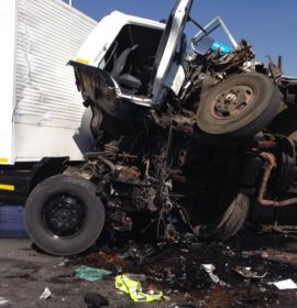 Two trucks collide injuring 5, Jet Park.