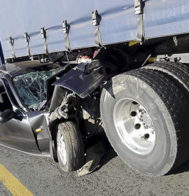 Collision into truck on the N3 at Heidelberg
