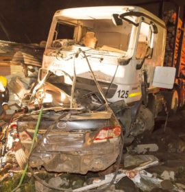 Truck crash om the R603 leaves 4 dead